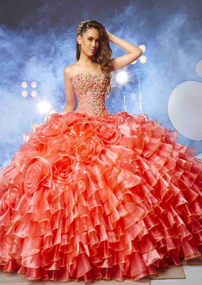 8d033631a22 STRAPLESS RUFFLED QUINCEANERA DRESS BY RAGAZZA FASHION – PATTERSON  QUINCEAÑERAS. Quinceañeras Dresses Tuxedos Shoes Limo Rentals